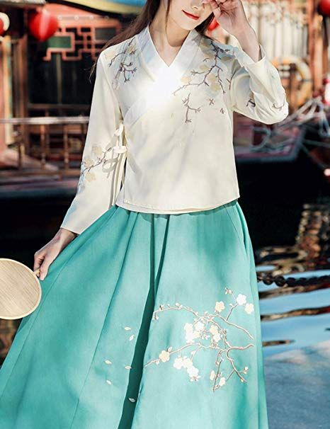 Tanming Women's Vintage Casual Chinese Costume Hanfu Cotton Floral Shirts Tops