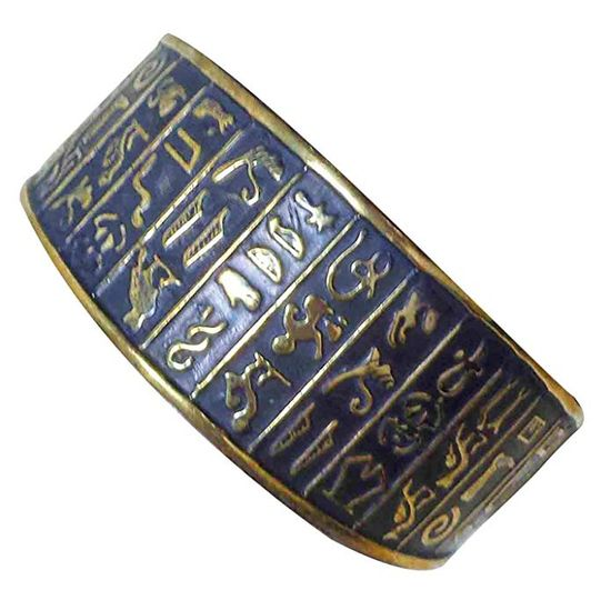 bonballoon Egyptian Egypt Pharaoh Handmade Brass Bracelet Cuff Isis Wings