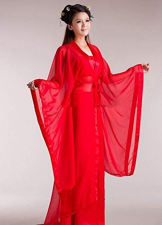 Lady Womens Hanfu Sexy Costume Ancient Chinese Dragon Fairy Costumes Quality Chiffon Clothing
