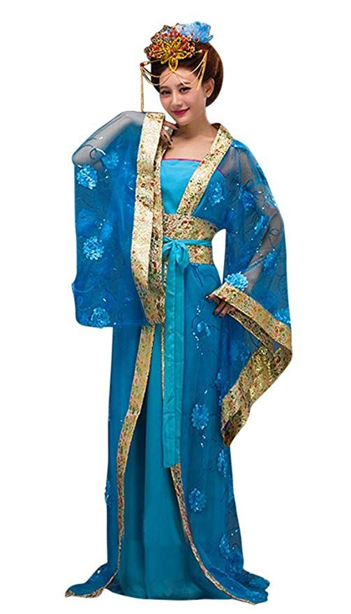 CRB Fashion Womens Ladies Stunning Asian Oriental Chinese Dynasty Ming Qin Han Xia Dress Costume with Head Accessories
