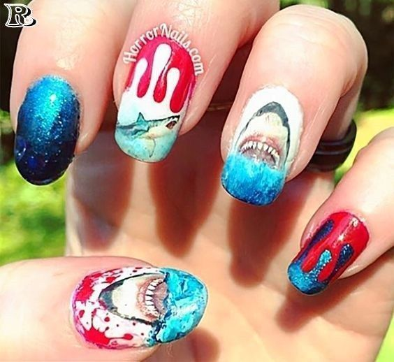 50 Shark Week Nail Art 2019 – Reny styles