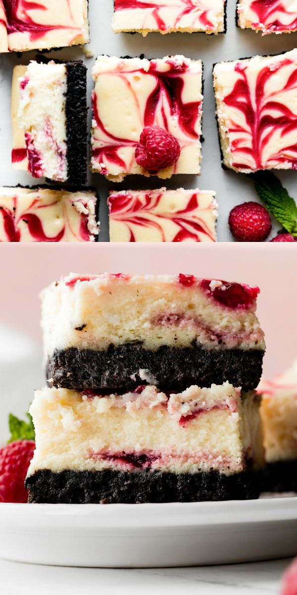 White Chocolate Raspberry Cheesecake Bars