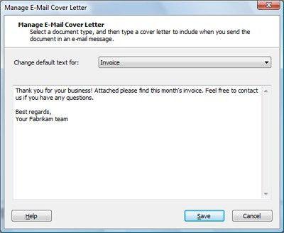 email format for sending resume