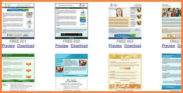 Free Email Newsletter Templates Word 10 Excellent Websites For - newsletter templates word free
