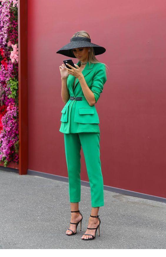 Classy green suit