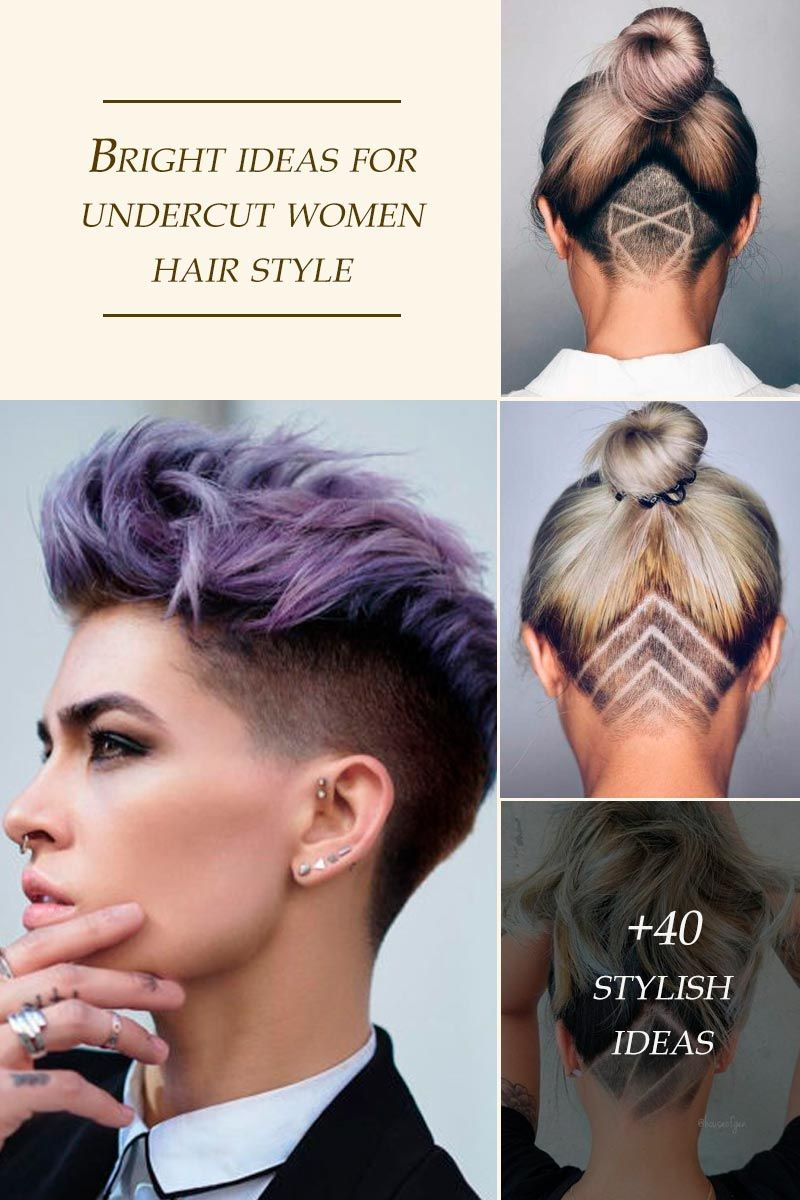 An undercut for women is a great way to upgrade their look no matter whether they prefer long hair or short haircuts. It's extremely versatile and has a multitude of design options, from simple side cuts to hidden nape shaved hairstyles, the trendiest of which you can find here. #glaminati #lifestyle #undercutforwomen