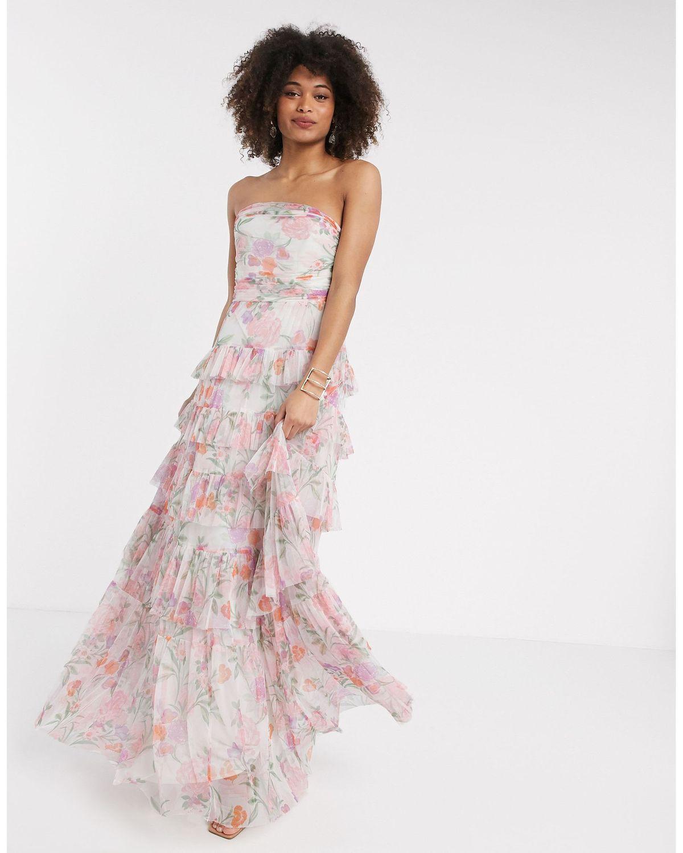 Bandeau Maxi Bridesmaid Dress