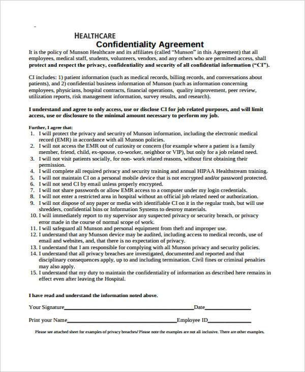 Nda Free Template 20 Word Non Disclosure Agreement Templates Free - vendor confidentiality agreement