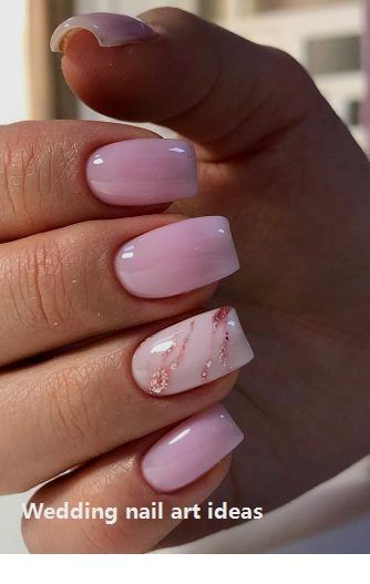 Nice light pink ombre nails