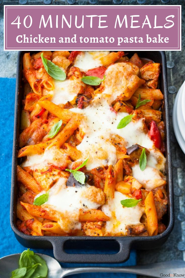 Our chicken and tomato pasta bake is topped with mozzarella cheese for a tasty, gooey finish. Chicken pasta bake is a classic family meal and this chicken and tomato pasta bake recipe is so easy to make! This easy pasta bake is a great midweek family meal, especially if you're short on time. If you're looking for a quick and easy dinner, you can prepare this recipe ahead. A delicious family dinner on a budget - yum! #pastabake #chickenandtomatopasta #cheesypastabake #budgetfamilydinners #pasta