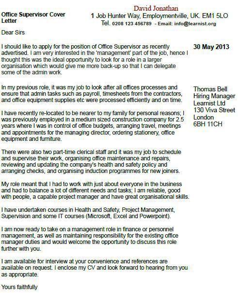... Custodial Supervisor Cover Letter Cvresumecloudunispaceio   Custodial Supervisor  Cover Letter ...