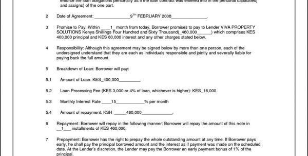 Unsecured Loan Agreement Sample Personal Loan Repayment Letter - loan agreement sample letter