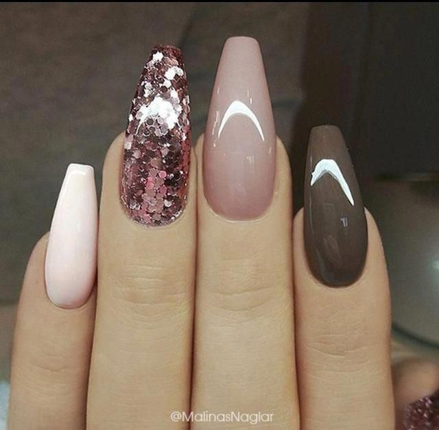 acrylic nails for fall which are stunning #acrylicnailsforfall