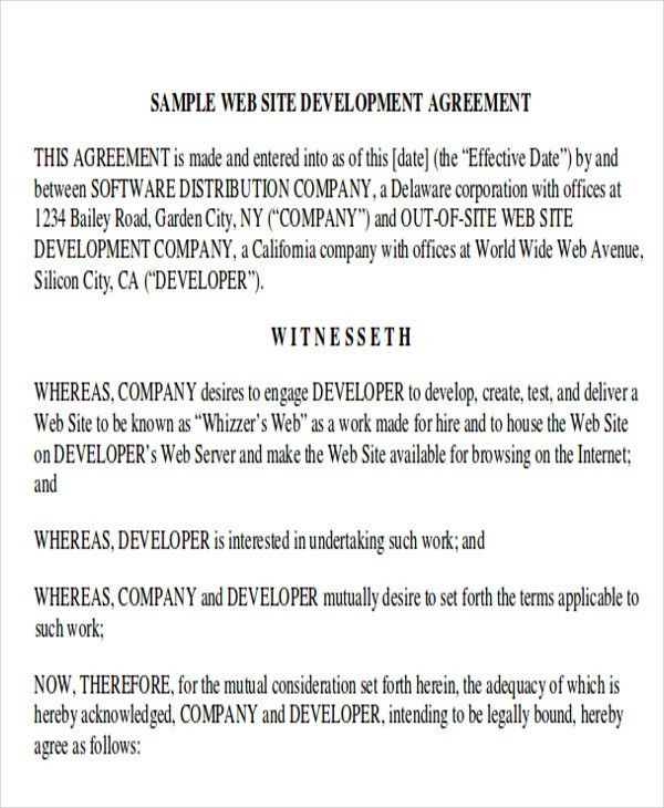 Mutual Agreement Contract Sample Contract Extension Letter - development contract templates