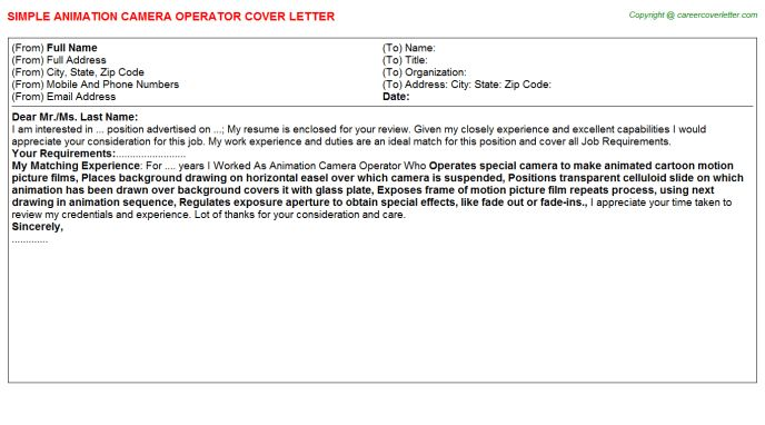 ... 3d Animator Cover Letter 3d Animator Cover Letter Sample   Animation  Director Cover Letter ...