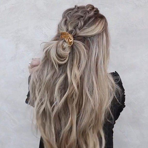 "Chrissy Rasmussen on Instagram: ""Double Dutch braids to a half bun 殺 w/ @lindseyraerogers & @habitextensionmethod : @_andrewpowell"""