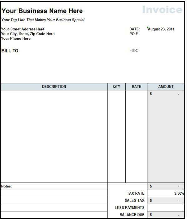 Blank Invoices Printable Free Blank Invoice Form Template, Free - free invoice template online
