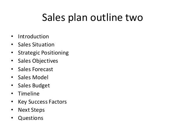 Sales Plan Outline Sales Plan Outline Sample This Image Shows An - seminar planning template
