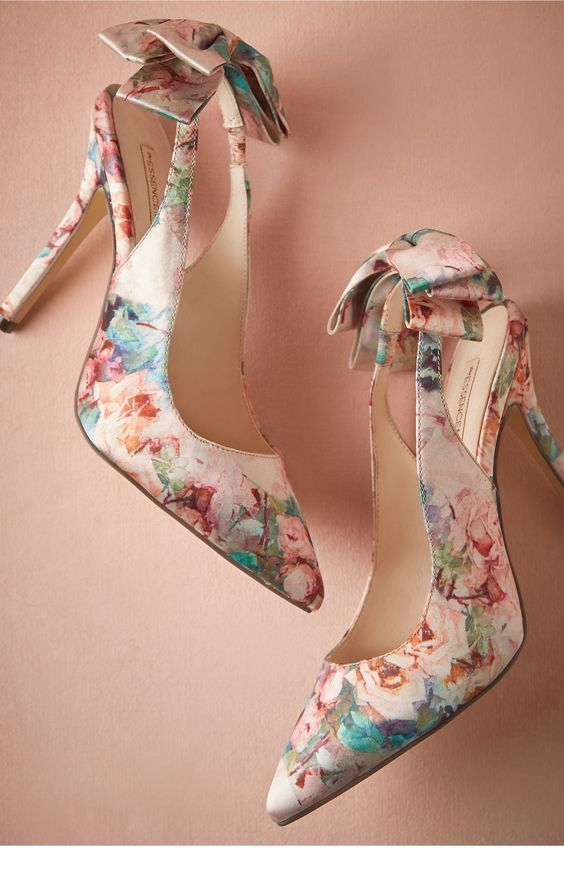 Awesome shoes with flowers and bows