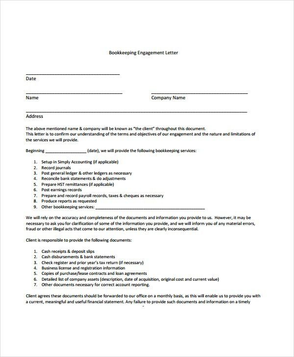 100+ Contract For Accounting Services Template How To Write A - engagement letter