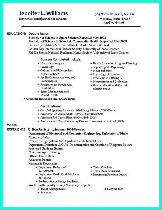 Example Of A Well Written Resume Best Resume Examples For Your - example of a written resume
