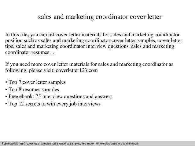 ... Marketing Sales Cover Letter Choose Caregiver Cover Letter    Appointment Coordinator Cover Letter ...