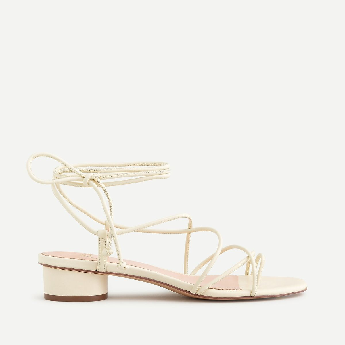 J.Crew: Strappy Lace-up Sandals With Toe Ring