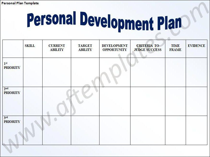 ... Pdp Templates Sample Personal Development Plan Template 6 Free   Personal  Development Example ...  Free Personal Development Plan Template