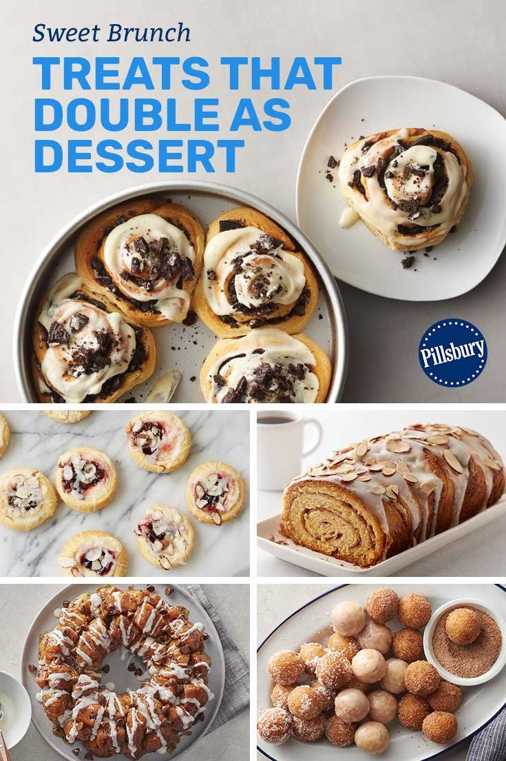 Satisfy your morning sweet tooth with these brunch-perfect treats! From donuts to Oreo-stuffed cinnamon rolls, there's something for brunch guests for every age and taste.