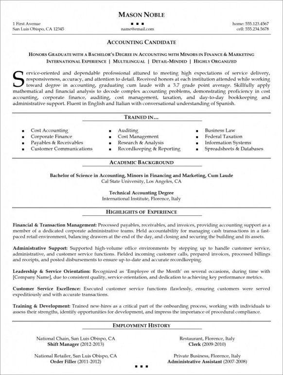 Resume organizational skills examples