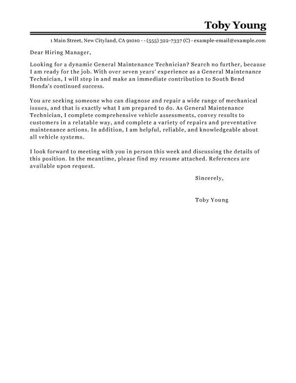application letter for mechanical technician - Helom.digitalsite.co