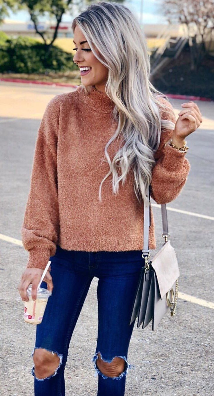 brown sweater