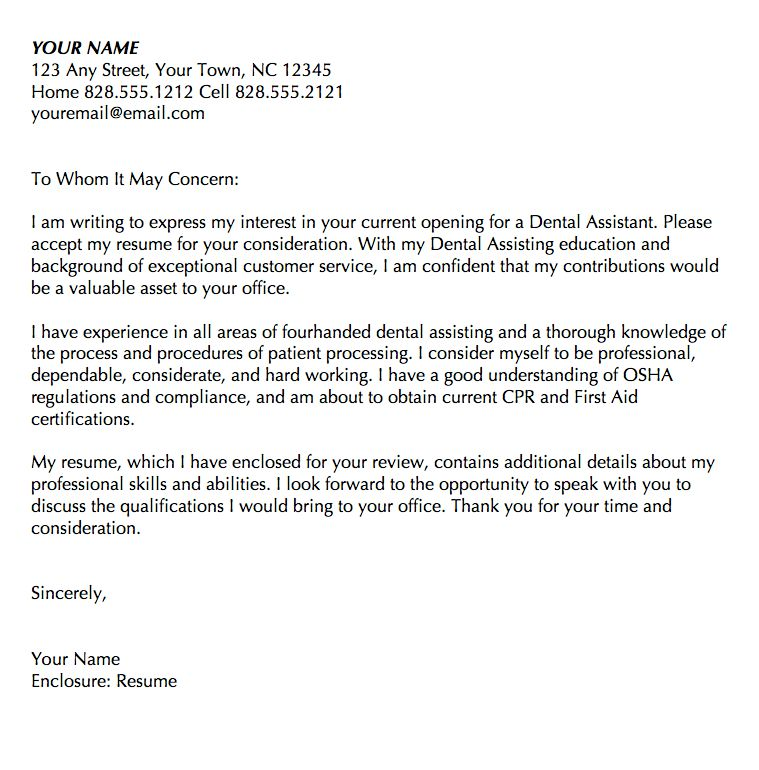 Sample Cover Letter Dental Assistant Resume Examples For Dental - resume examples for dental assistant