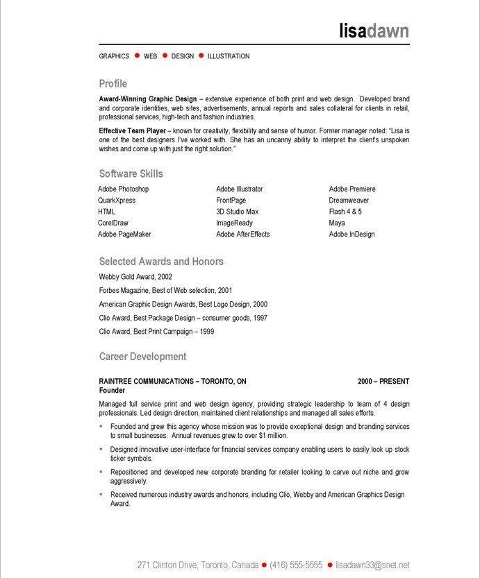 Graphic Design Resume Format Graphic Design Resume Sample Writing - graphic designers resume