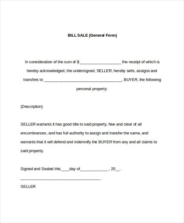 House Bill Of Sale Template Bill Of Sale Form, 898 Best Real - equipment bill of sale template