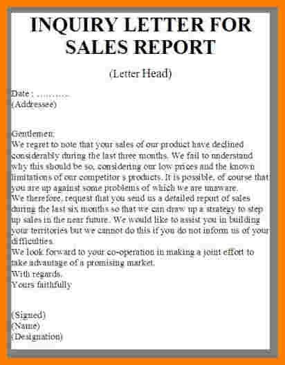 ... Business Inquiry Letter Sample Business Letter Inquiry Sample   Letter  Of Inquiry ...  Inquiry Letter Sample For Business