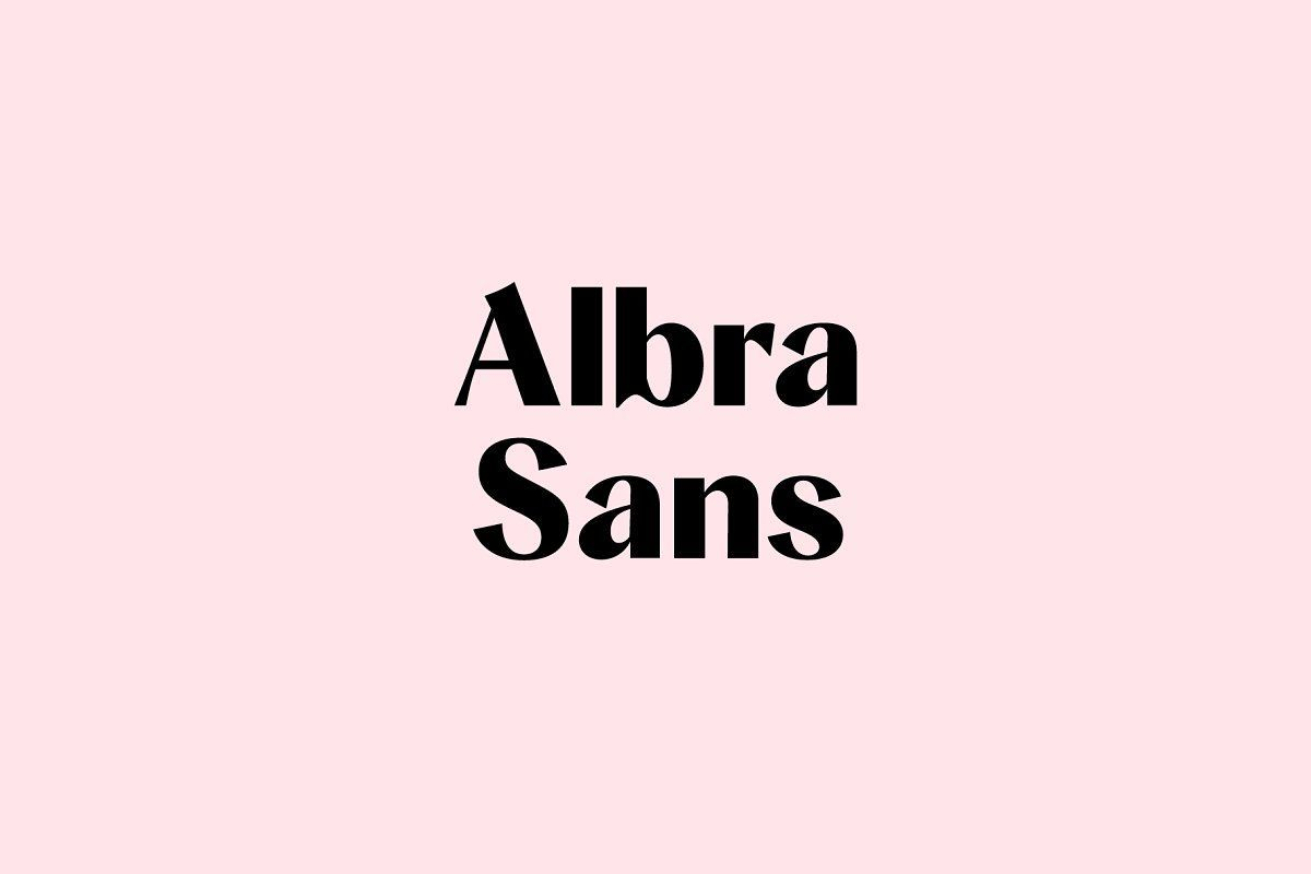 Albra Sans is a extension of our successful Albra Collection. A calligraphy inspired Sans Serif typeface conserving the original quirkiness of the collection. With over 500 Glyphs and a wide range of weights its a timeless workhorse for many possible application from branding to editorial.
