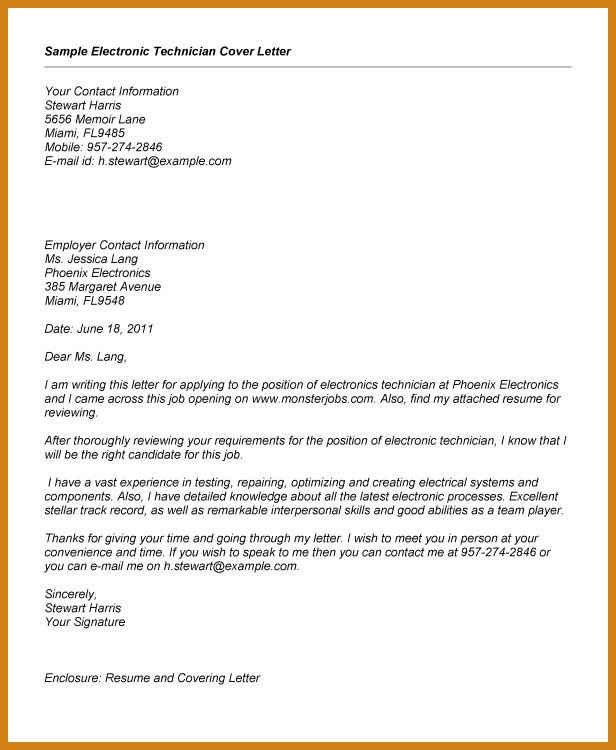 ... Electronic Technician Cover Letter Amazing Computer Technician    Systems Technician Cover Letter ...