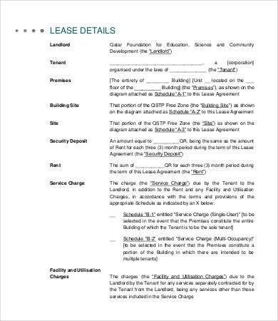 Sample Land Lease Agreement 6+ agricultural land lease agreement - property lease agreement template