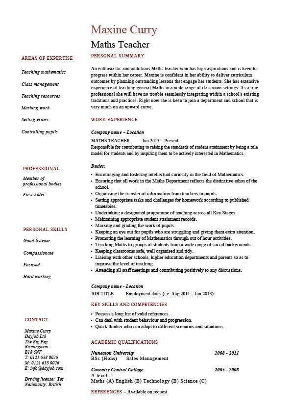 Homeschool Teacher Jobs Teacher Resume Examples New Teacher - examples of teacher resume