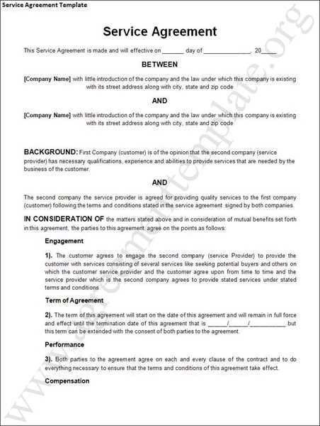 It Service Contract Template It Service Contract Agreement - training agreement contract