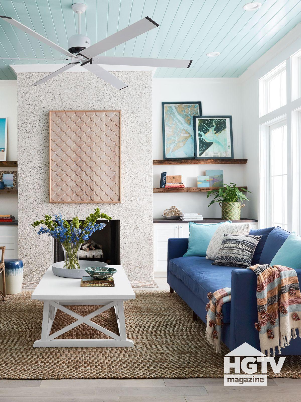 HGTV Dream Home 2020 living room featured in HGTV Magazine
