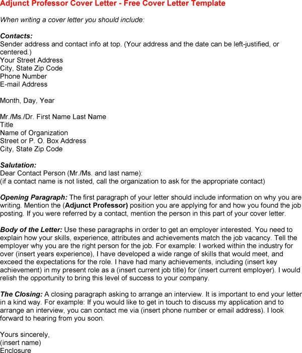 sample adjunct professor cover letter adjunct professor cover sample cover letter for teacher - Cover Letter For Adjunct Instructor