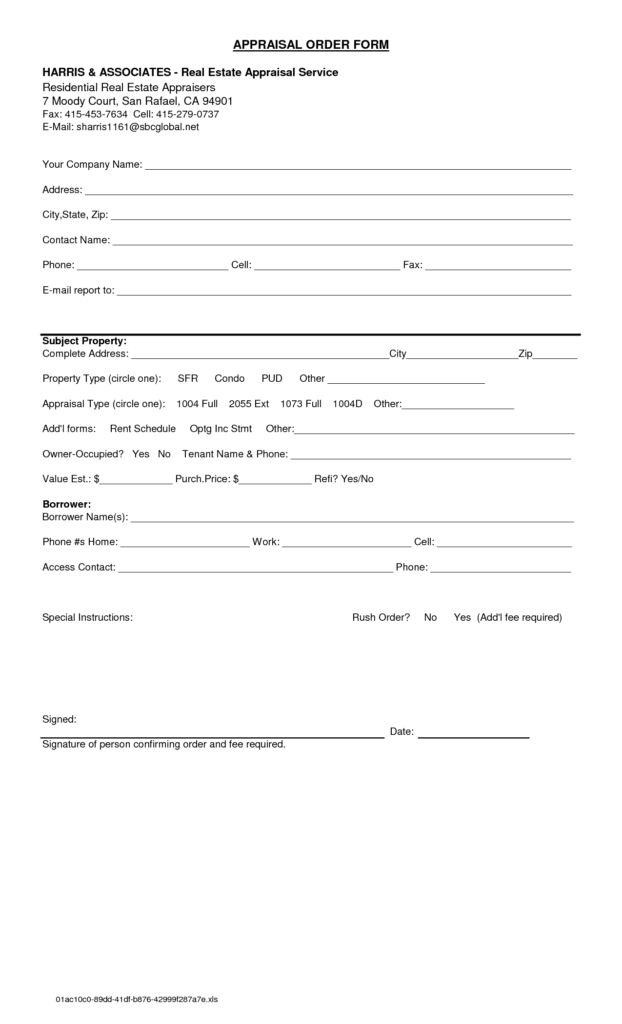 Appraisal Forms Templates 8 Hr Appraisal Forms Hr Templates Free - appraisal order form