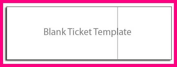 Blank Concert Ticket  Printable Concert Ticket Template