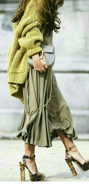 A nice green style look