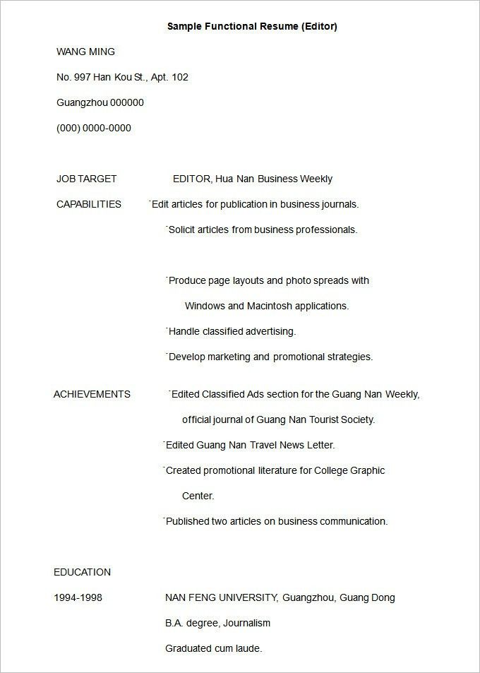 best functional resume layout contemporary resume sles