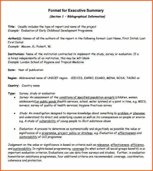 Template Of Executive Summary 31 Executive Summary Templates Free - executive summary format for project report