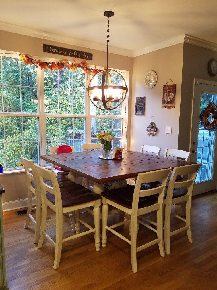 Farmhouse table Marsilona Kitchen Counter Height Table
