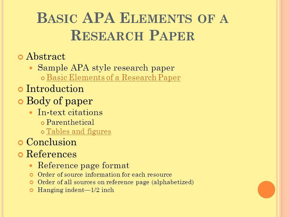 sample apa essay paper